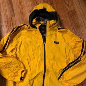 Abercrombie and Fitch Yellow WIndbreaker Large